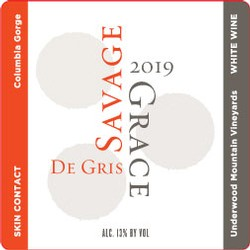 2019 De Gris (skin-contact Pinot Gris), Underwood Mtn Vineyards